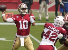 Jimmy Garoppolo and the San Francisco 49ers hope to bounce back in NFL Week 2 after an opening week loss. (Image: Tony Avelar/AP)