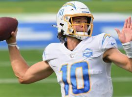 LA Chargers quarterback Justin Herbert is one of the few backup QBs that saw action in Week 2. (Image: Getty)
