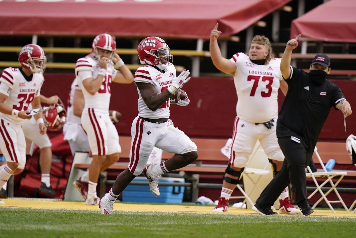 Louisiana-Lafayette Iowa State Big 12 mengganggu Minggu ke-2