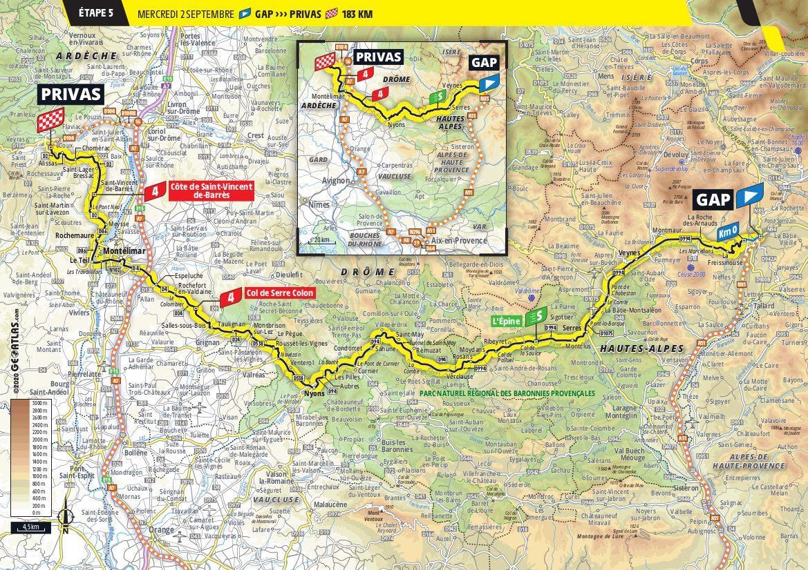 Stage 5 Tour de France Privas Gap