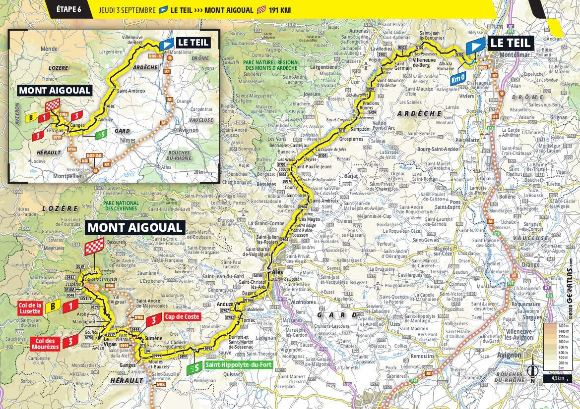 Le Tour Stage 6 de France Mont Aigoual