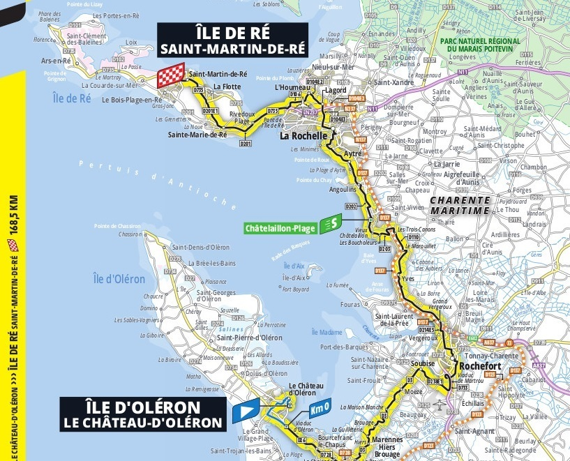 Map Stage 10 Le Tour de France 2020