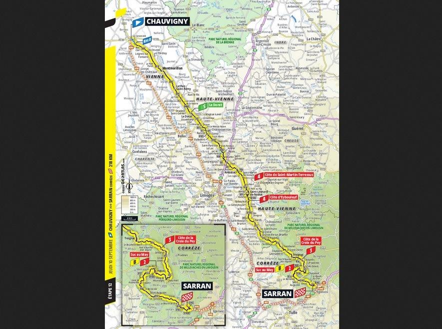 Le Tour de France Stage 12 Map
