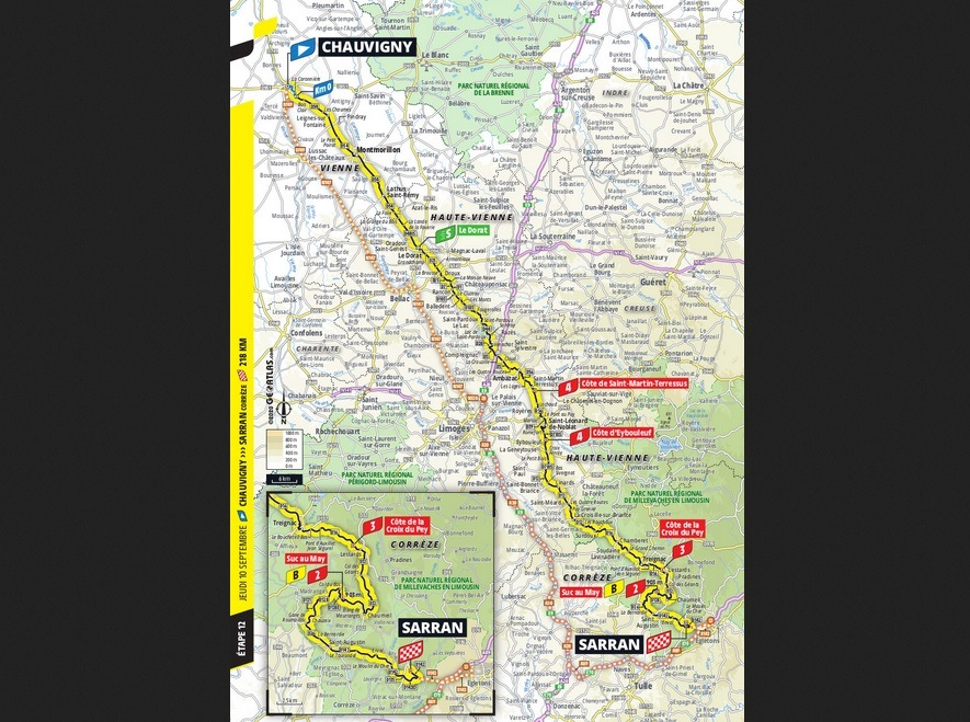Peta Tahap 12 Tour de France