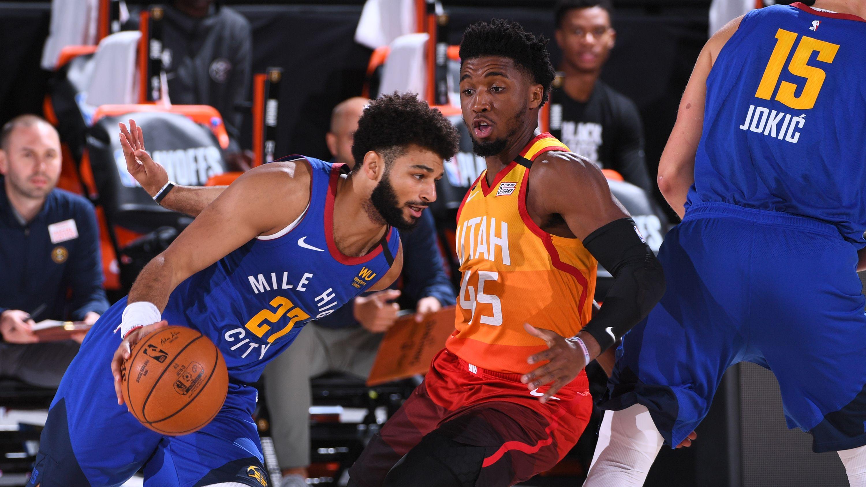 Jamal Murray Donovan Mitchell Utah Jazz Denver Nuggets