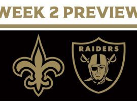 The New Orleans Saints play against the Las Vegas Raiders for the first time in Sin City during MNF. (Image: New Orleans Saints)
