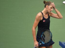 Women's No. 1 seed Karolina Pliskova lost her second-round match at the US Open to Caroline Garcia. (Image: Danielle Parhizkaran/USA Today Sports)