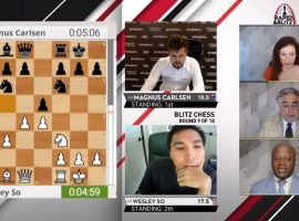 Magnus Carlsen and Wesley So have distanced themselves from the field heading into the final day of the Saint Louis Rapid & Blitz chess tournament. (Image: Saint Louis Chess Club/YouTube)