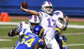 Buffalo's Josh Allen was one of the big winners in NFL Week 3, while the LA Rams were losers to the Bills. (Image: AP)