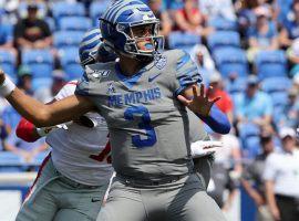 Memphis quarterback Brady White returns for the Tigers, who face Arkansas State on Saturday. (Image: Getty)