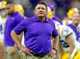 LSU head coach Ed Orgeron has seen several players opt out of the 2020 season, but said he isn't overly concerned. (Image: Getty)