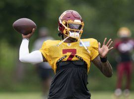 Dwayne Haskins has been named the starting quarterback for Washington, but in an unusual NFL prop bet gamblers can bet on whether he gets benched this season. (Image: AP)