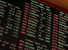 The big board at the sports book at the Mirage Casino in Las Vegas. (Image: AP)