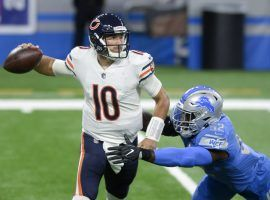 Chicago quarterback Mitchell Trubisky engineered a fourth-quarter comeback to upset Detroit and burn NFL Week 1 bettors. (Image: AP)