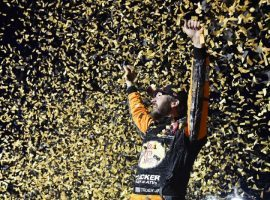 Martin Truex Jr. won the South Point 400 last year, and is one of the favorites to win at Las Vegas Motor Speedway. (Image: Getty)