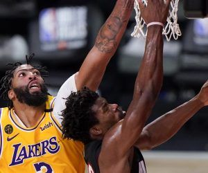 Jimmy Butler Anthoyn Davis NBA Finals Game 5 LA Lakers Miami Heat