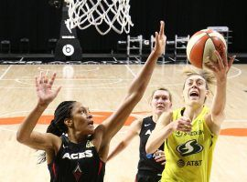 The Las Vegas Aces and the Seattle Storm will meet in the WNBA Finals in a battle of the league's top two teams. (Image: Ned Dishman/NBAE/Getty)