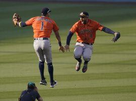 The Houston Astros came from behind to beat the Oakland A's 10-5 in Game 1 of their ALDS series. (Image: Ashley Landis/AP)