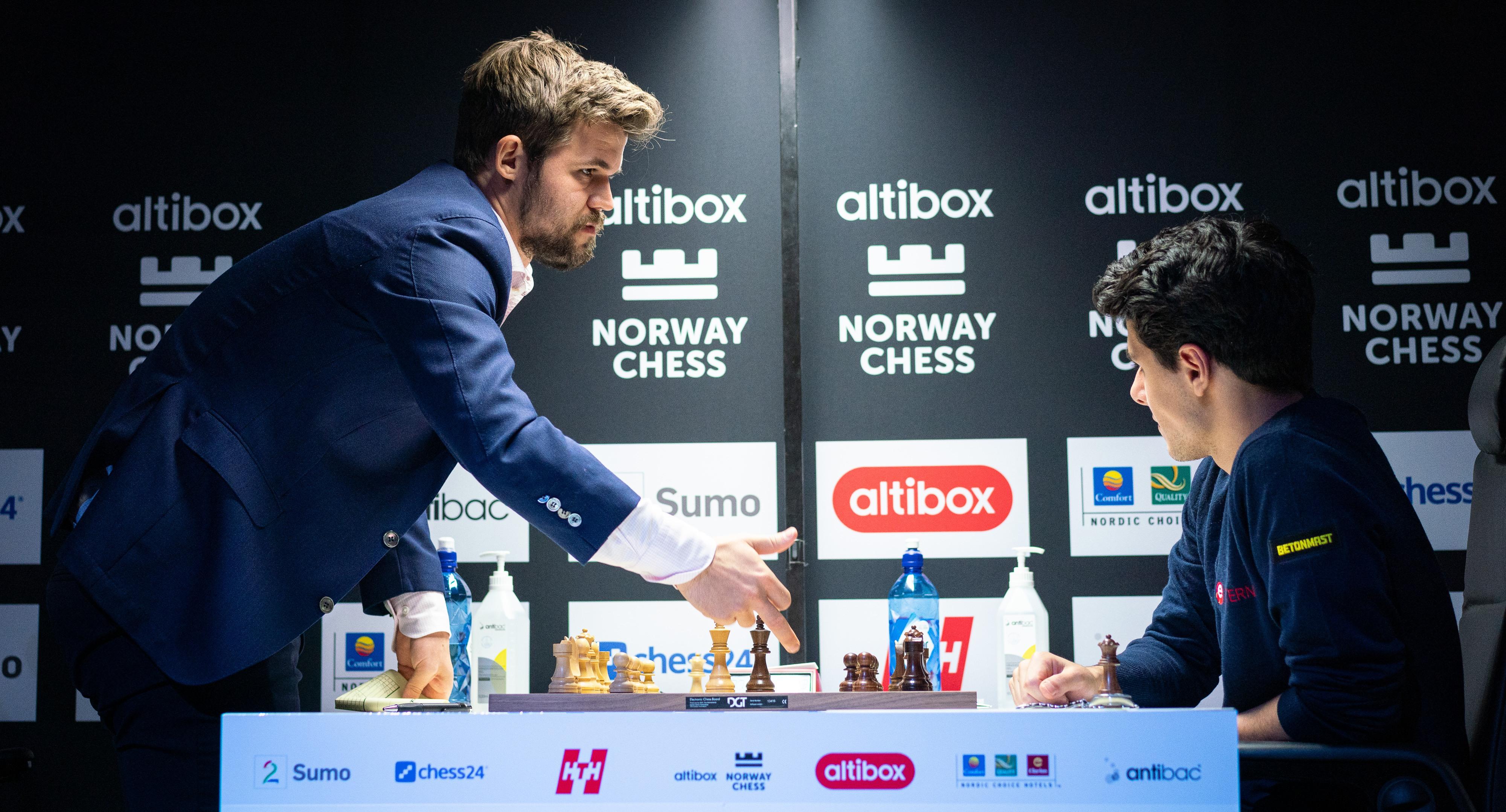 Norway chess odds Carlsen Firouzja