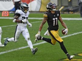 Pittsburgh Steelers rookie WR Chase Claypool torched Philadelphia for four touchdowns. (Image: Don Wright/AP)