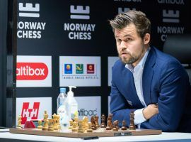 At least one bettor scored big when World Chess Champion Magnus Carlsen lost to Jan-Krzysztof Duda in Round 5 of Norway Chess. (Image: Lennart Ootes/Altibox Norway Chess)