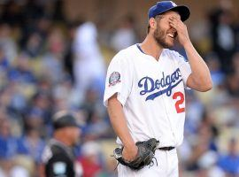 The Los Angeles Dodgers have scratched Clayton Kershaw from Game 2 of the NLCS against the Atlanta Braves. (Image: Gary A. Vasquez/USA Today Sports)