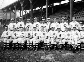 The Chicago Cubs at the 1908 World Series. (Image: Getty)