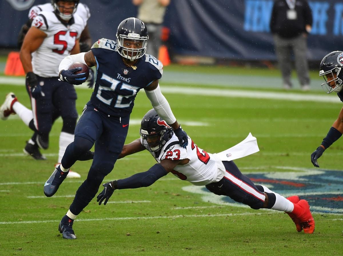 Derrick Henry Tennessee Titans Pittsburgh Steelers NFL Minggu 7
