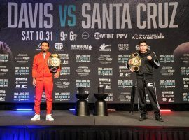 Gervonta Davis and Leo Santa Cruz will fight in San Antonio on Saturday night with titles in two different weight classes on the line. (Image: Sean Michael Ham/Mayweather Promotions)