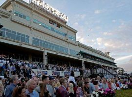 The scene for the 2021 Pegasus World Cup day won't be as crowded as it was in 2018. But Gulfstream Park will allow fans inside for its Championship Meet that begins Dec. 2. (Image: John McCall/South Florida Sun Sentinel)