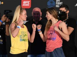 Holly Holm (left) and Irene Aldana (right) will face off in the main event of UFC on ESPN 16 on Saturday night. (Image: Getty)