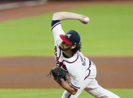 Ian Anderson threw 5.2 shutout innings to give the Braves a 2-0 NLDS series lead over the Miami Marlins. (Image: Eric Gay/AP)