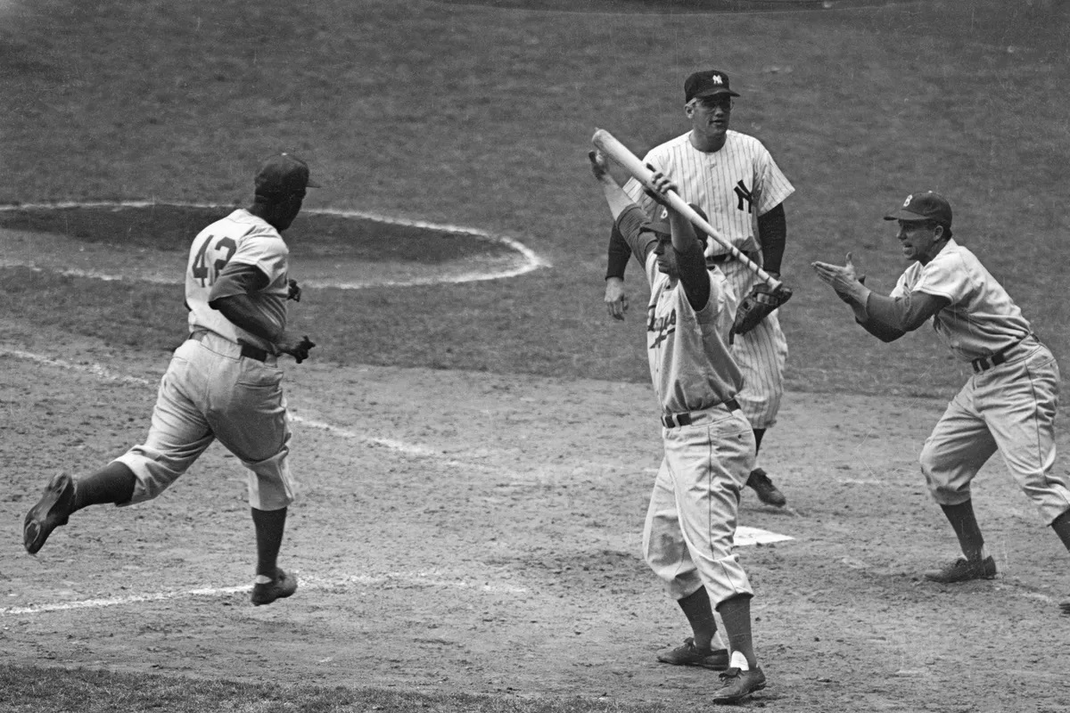 Jackie Robinson 1952 World Series Brooklyn Dodgers