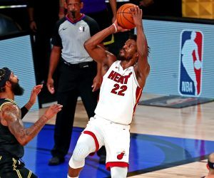 Jimmy Butler Miami Heat LA Lakers NBA Finals triple-double Game 5
