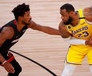 Jimmy Butler LeBron James Game 4 NBA Finals LA Lakers Miami Heat