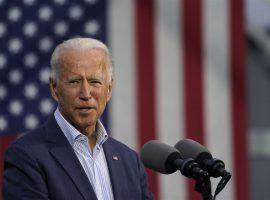 Democratic challenger Joe Biden attracted 81% of wagers -- numbers that knocked his odds down to among their lowest of the 2020 presidential campaign. (Image: Carolyn Kaster/Associated Press)