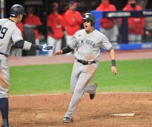 NY Yankees Gio Urshela grand slam Cleveland Wild Card Series