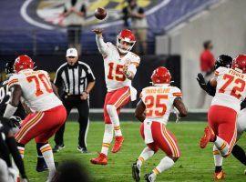 Kansas City Chiefs QB Patrick Mahomes attacks the Baltimore Ravens in Week 3. (Image: Nick Wass/AP)