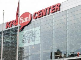 The KFC Yum! Center in downtown Louisville, Kentucky could host the Toronto Raptors next season. (Image: Andre Rocco/Getty)