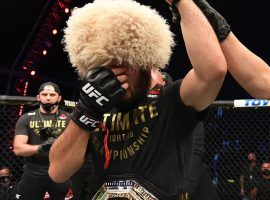 Khabib Nurmagomedov says he intends to go into coaching following his shocking retirement from MMA. (Image: Josh Hedges/Zuffa/Getty)