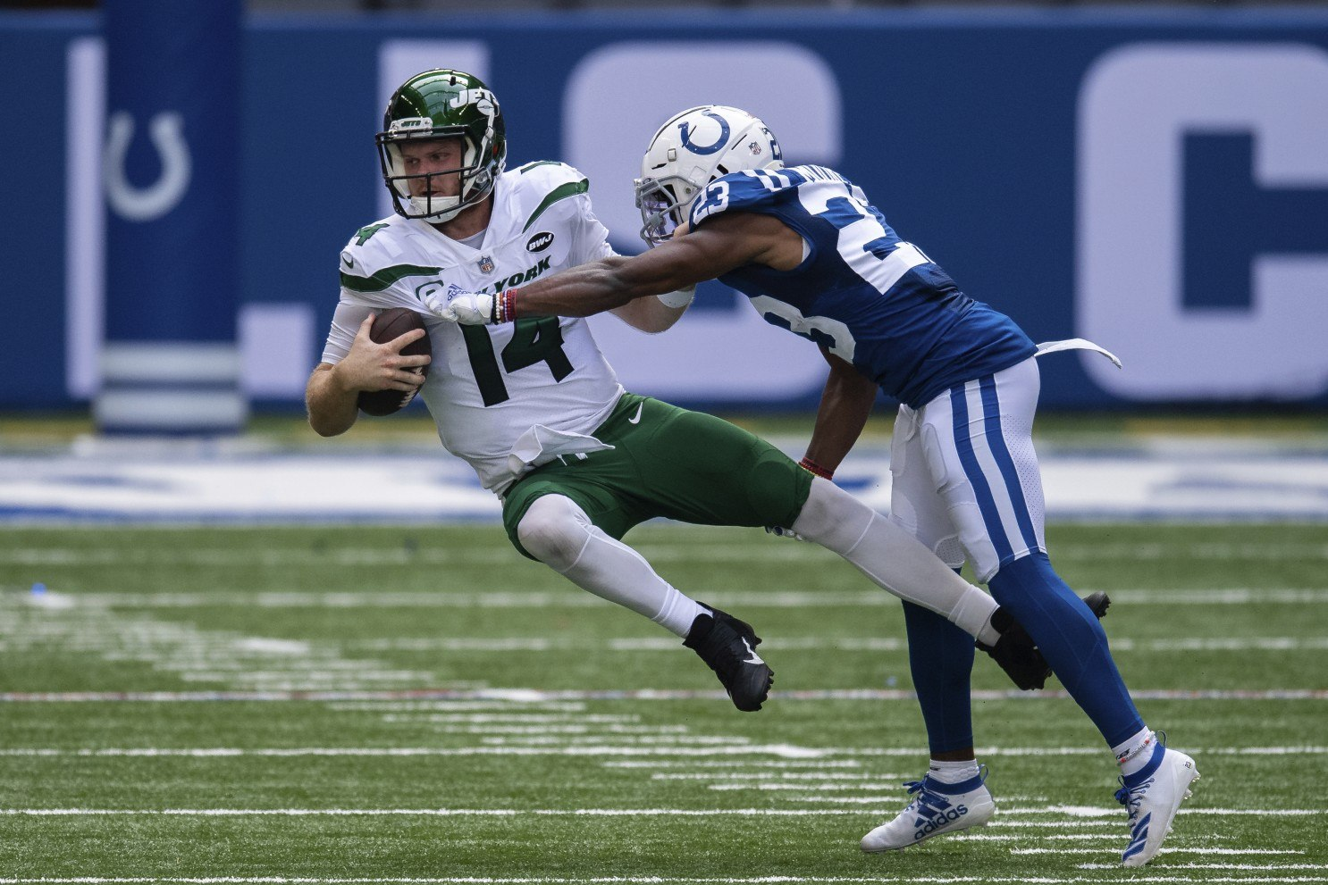 Sam Darnold winless NY Jets 0-16 New York Giants Atlanta Falcons