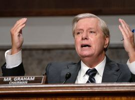 Lindsey Graham, R-S.C., has been a staple of Congress for more than a quarter century. Despite recent controversies, he is still a favorite to keep his seat. (Image: Mother Jones)