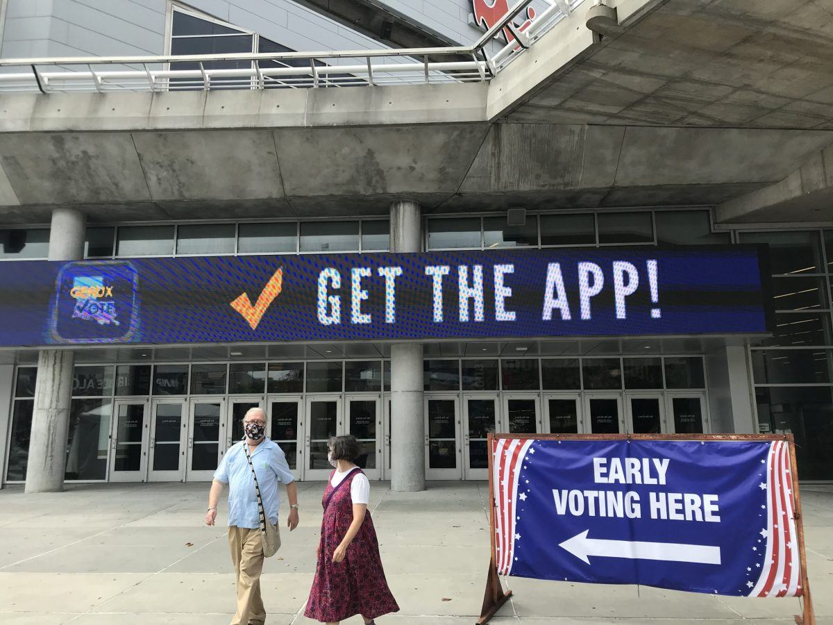 Louisiana voting at Smoothie King Center
