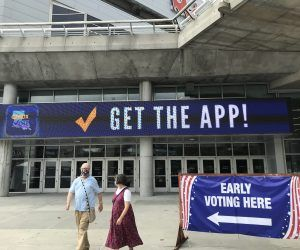 Louisiana voting at Smoothie King Center