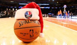The NBA is considering a Christmas Day start for the 2020-21 season, though some teams reportedly find that timeline too ambitious. (Image: Nathaniel S. Butler/NBAE/Getty)
