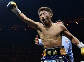 Naoya Inoue will defend his bantamweight titles against Jason Moloney in Las Vegas on Saturday. (Image: Mark Runnacles/Getty)