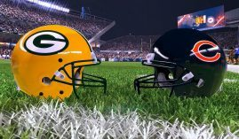 The Green Bay Packers are a big favorite over the Chicago Bears to win a third-straight NFC North title. (Image: EA Sports)