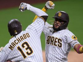 Fernando Tatis Jr. (right) homered twice on Thursday to lead the San Diego Padres to an 11-9 win over the St. Louis Cardinals. (Image: Orlando Ramirez/USA Today Sports)