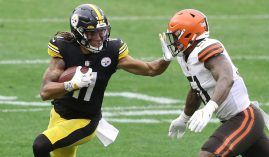 Pittsburgh Steelers rookie Chase Claypool emerged as a top target for Ben Roethlisberger. (Image: Charles LeClaire/USA Today Sports)