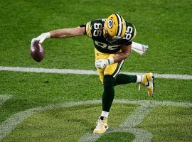 Green Bay Packers TE Robert Tonyan co-leads the NFL with five touchdown receptions. (Image: (Stacy Revere/Getty)